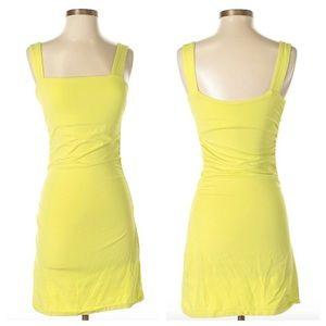 ✨VS Light Green/Yellow Cotton Dress w Bra-Shelf XS